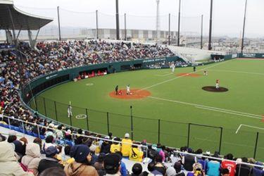 タマホームスタジアム試合風景